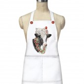 Holiday Chicken On Cow Apron