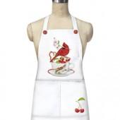 Cardinal Cherry Teacup Apron