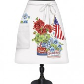 Can Flag Flowers Bistro Apron