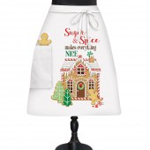 Gingerbread House Bistro Apron