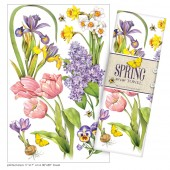 Spring Flower Medley Large Print Towel