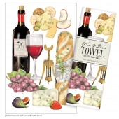 Wine Medley Large Print Towel