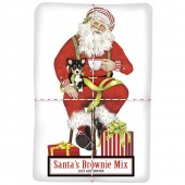 Santa with Puppies Brownie Mix