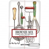 Vintage Utensils Towel With Brownie Mix