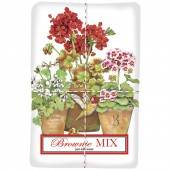 Geranium Hummingbird Pots Brownie Mix