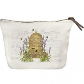 Lavender Beehive Canvas Pouch