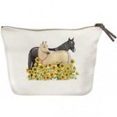 Sunflower Horses Canvas Pouch