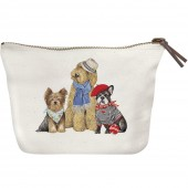 Yorkie Doodle Frenchie Canvas Pouch