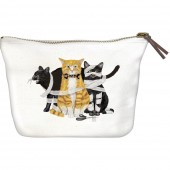 Purrefectly Wicked Cats Canvas Pouch