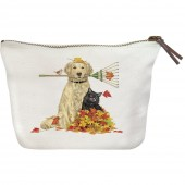 Raking Dog & Cat Canvas Pouch