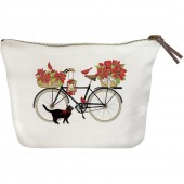 Amaryllis Bike Canvas Pouch