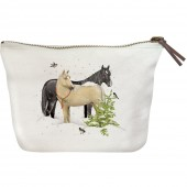Snow Horses Canvas Pouch