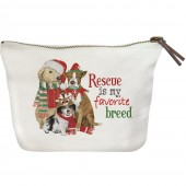 Holiday Rescue Pets Canvas Pouch