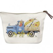 Blue Truck Egg Canvas Pouch