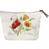 Botanical Poppy Canvas Pouch