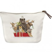 Red Animal Boat Canvas Pouch