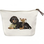 Doxie Birds Canvas Pouch