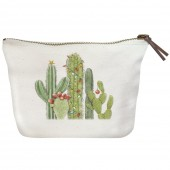 Cactus with Lights Canvas Pouch