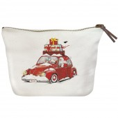 Santa Bug Canvas Pouch