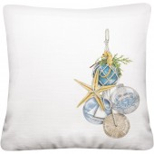 Nautical Ornaments Pillow