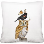 Stacked Autumn Birds Pillow