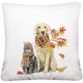 Dog Fall Branch Pillow