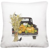 Fall Black Truck Pillow