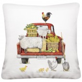 Red Truck Farmhouse Pillow
