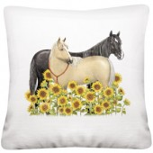 Sunflower Horses Pillow