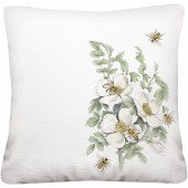 Bee Rose Bush Pillow