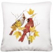 Cardinal Maple Branch Pillow