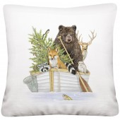 White Animal Boat Pillow