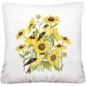 Sunflower Finch Pillow
