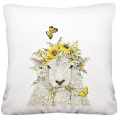 Sheep Flower Crown Pillow