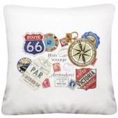 Bon Voyage Pillow