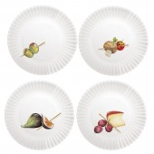 Appetizer Melamine Plates Set Of 4