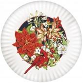 Cardinal Amaryllis Melamine Platter