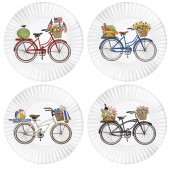 Bike Melamine Plates Set Of 4