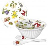 Fruit Melamine Bowl W/Serveware