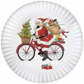 Santa Red Bike Melamine Platter