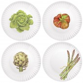 Single Veggies Melamine Plates S/4 7.5""