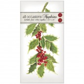 Variegated Holly Casual Napkins