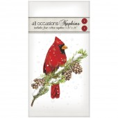 Cardinal On Pine Casual Napkins