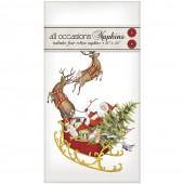 Santas Sleigh Casual Napkins