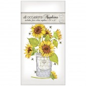 Sunflower And Bees Casual Napkins