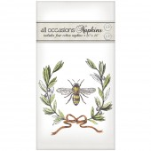Bee Olive Wreath Casual Napkins