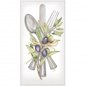 Olive Cutlery Casual Napkins