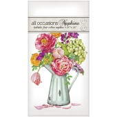 Country Flowers in Vase Casual Napkins