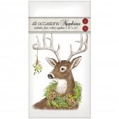 Wreath Deer Casual Napkins
