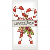 Candy Canes With Holly Casual Napkins
